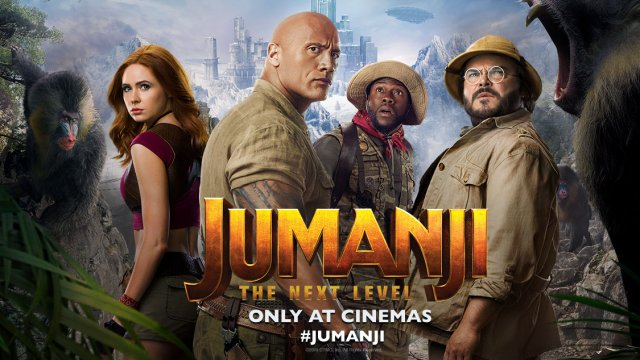 #JUMANJI: THE NEXT LEVEL now playing!